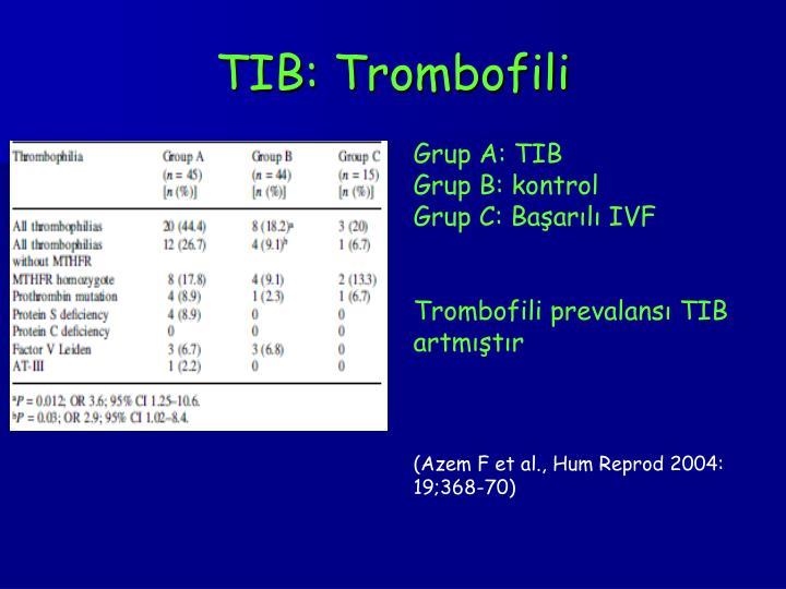 TIB: Trombofili