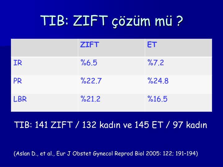 TIB: ZIFT çözüm mü ?