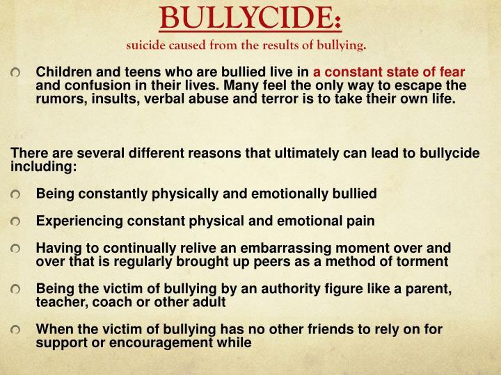 BULLYCIDE: