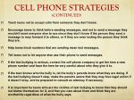 cell phone strategies continued