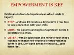 empowerment is key