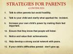 strategies for parents continued