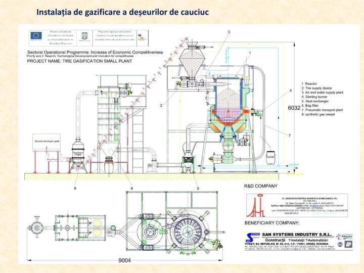 Instalația de gazificare a deșeurilor de cauciuc