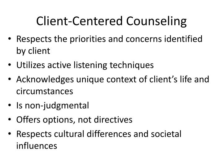 Client-Centered Counseling