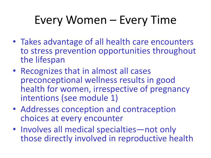 Every Women – Every Time