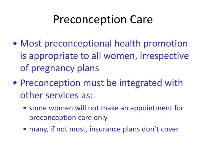 Preconception Care