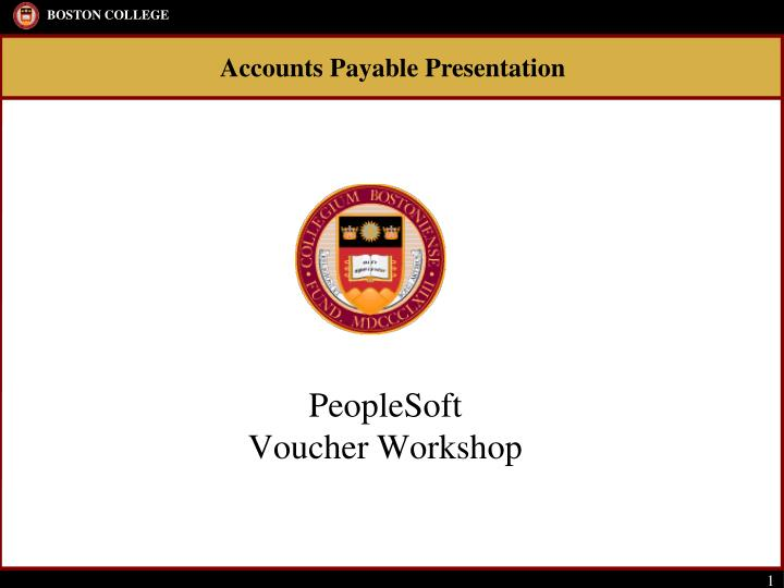 Peoplesoft voucher workshop