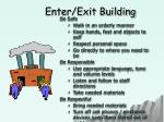 enter exit building