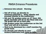 rmsa entrance procedures