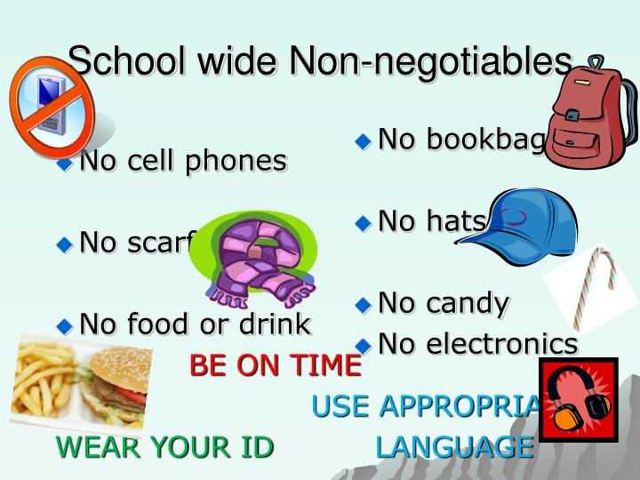 School wide Non-negotiables