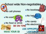 school wide non negotiables