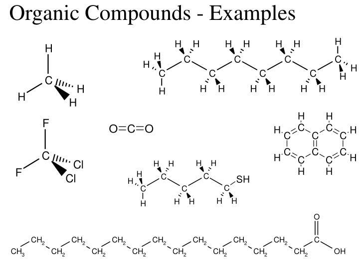 Organic Compounds - Examples