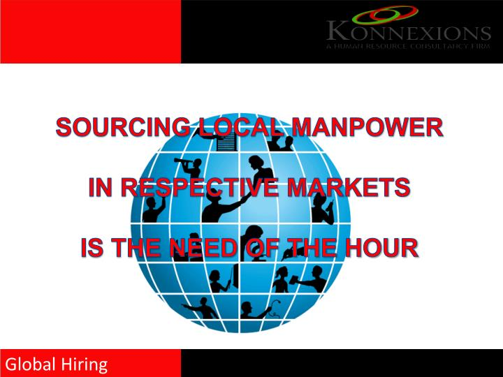 SOURCING LOCAL MANPOWER