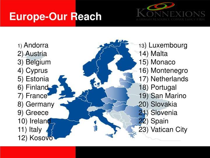 Europe-Our Reach