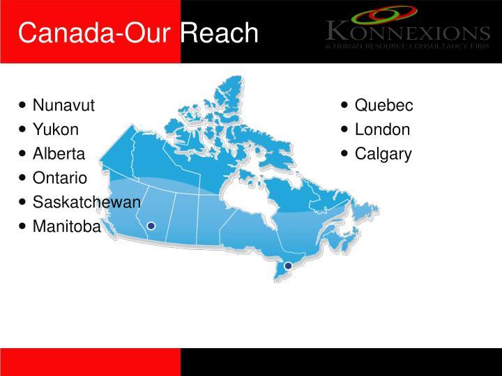 Canada-Our Reach