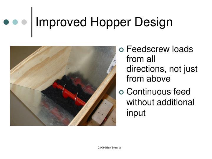 Improved Hopper Design