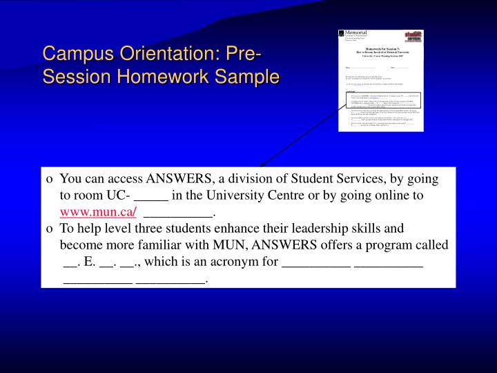 Campus Orientation: Pre-