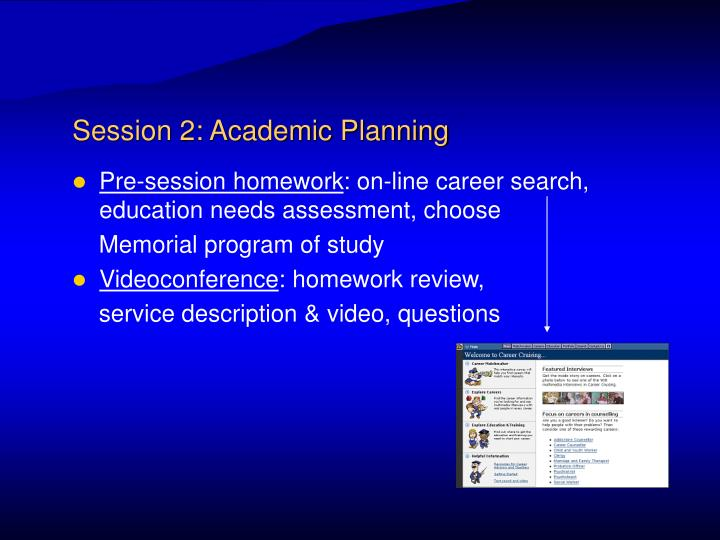 Session 2: Academic Planning