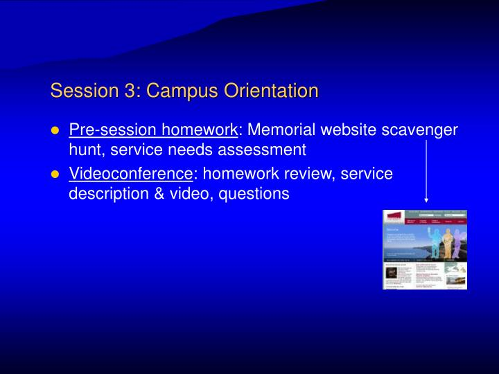 Session 3: Campus Orientation