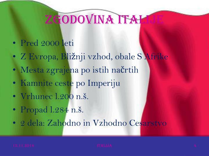 ZGODOVINA ITALIJE