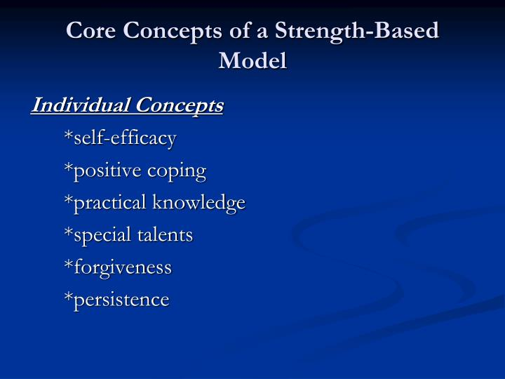 Core Concepts of a Strength-Based Model