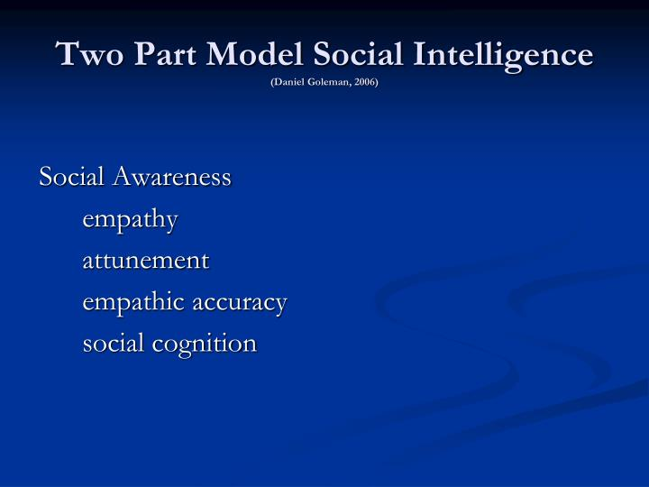 Two Part Model Social Intelligence