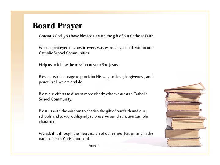 Board Prayer