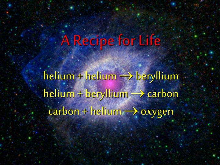 A Recipe for Life