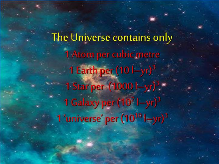 The Universe contains only