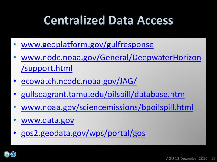 Centralized Data Access