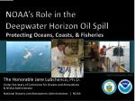 noaa s role in the deepwater horizon oil spill