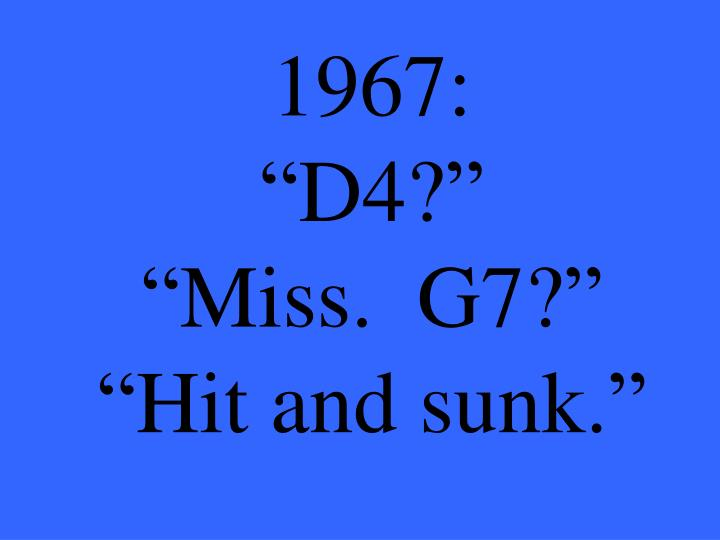 1967: