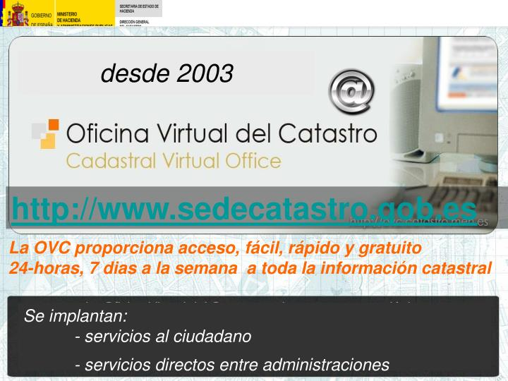 Ppt viabilidad y visibilidad del catastro powerpoint for Oficina virtual del catastro