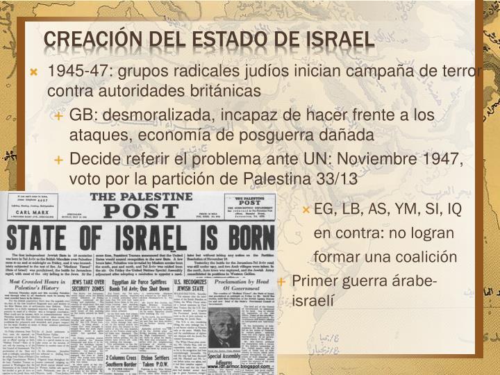 creación del estado de Israel