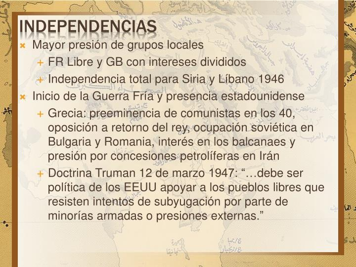 independencias