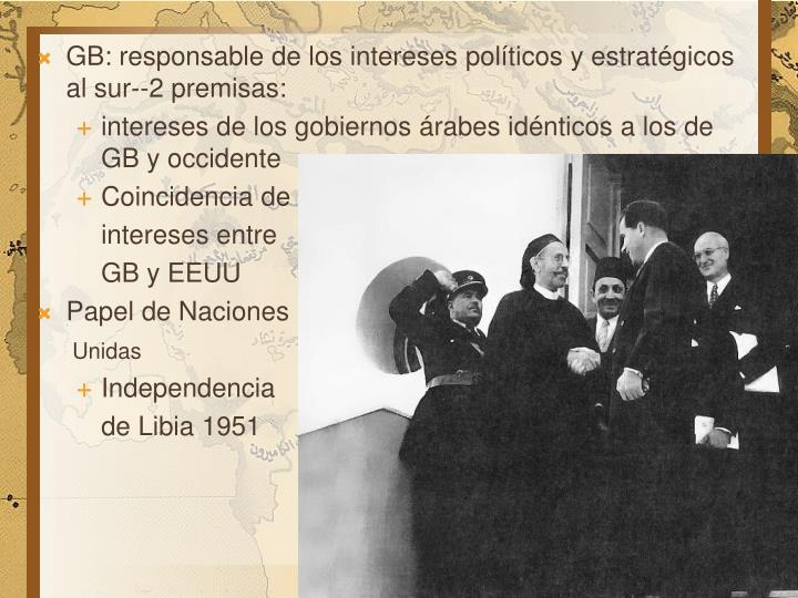 GB: responsable de los intereses políticos y estratégicos al sur--2 premisas: