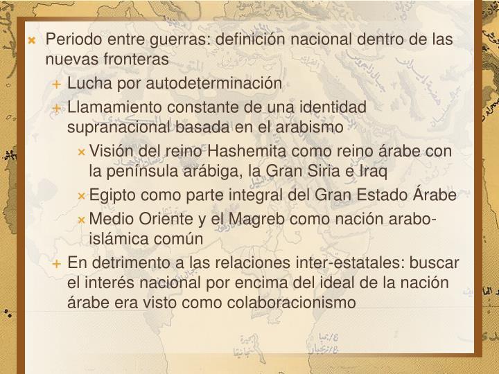 Periodo entre guerras: definición nacional dentro de las nuevas fronteras