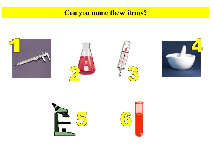 Can you name these items?