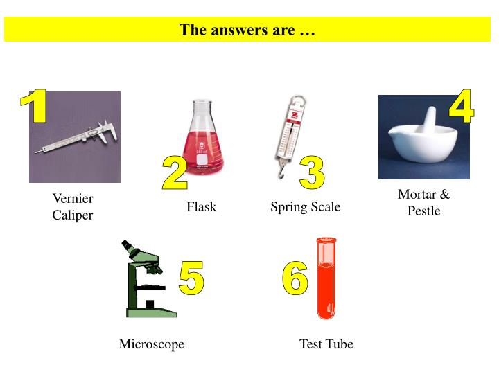 The answers are …