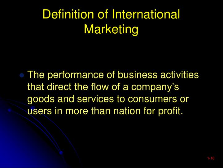 Definition of International Marketing