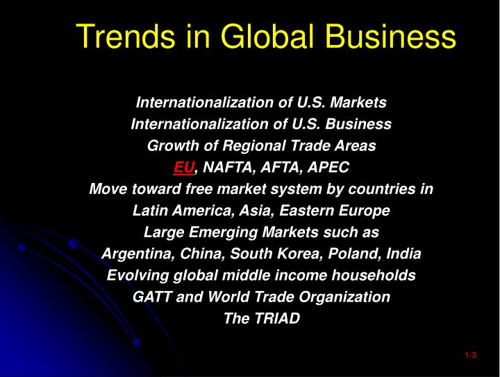 Trends in global business