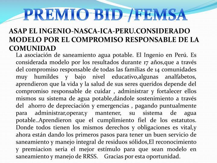 PREMIO BID /FEMSA