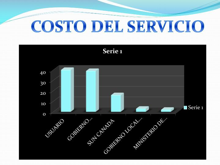 COSTO DEL SERVICIO