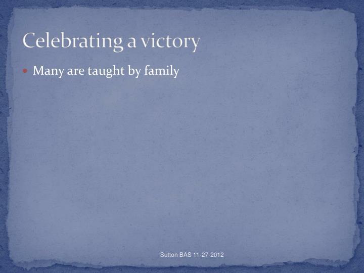 Celebrating a victory