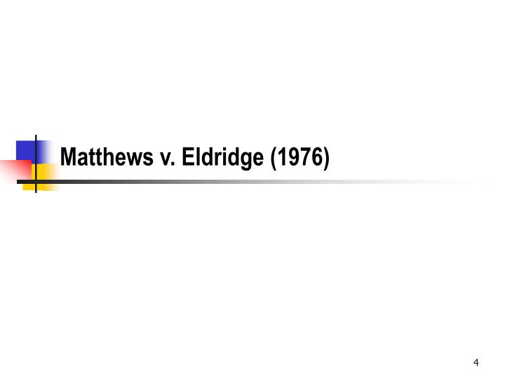 Matthews v. Eldridge (1976)