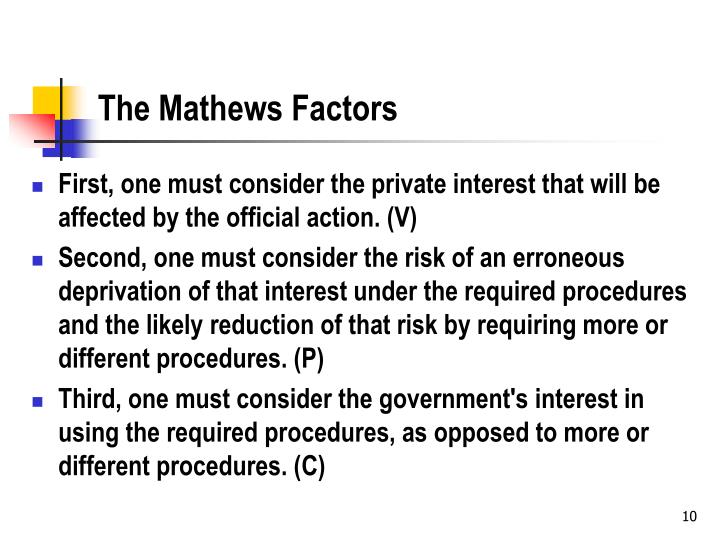 The Mathews Factors