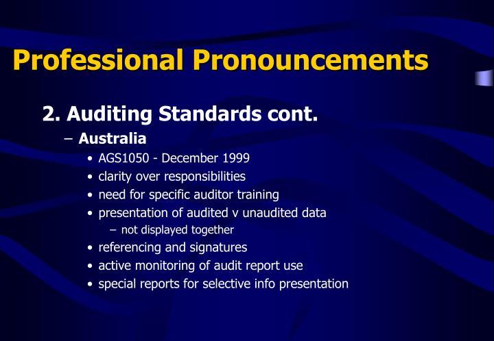 Professional Pronouncements