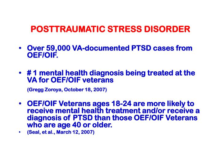 an overview of post traumatic stress disorder There are two primary types of treatment for posttraumatic stress disorder (ptsd) — psychotherapy and medications, nearly always used in conjunction there are two primary types of treatment for posttraumatic stress disorder (ptsd) — psychotherapy and medications, nearly always used in conjunction.