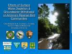 effects of surface water depletion groundwater withdrawal on arizona s riparian bird communities