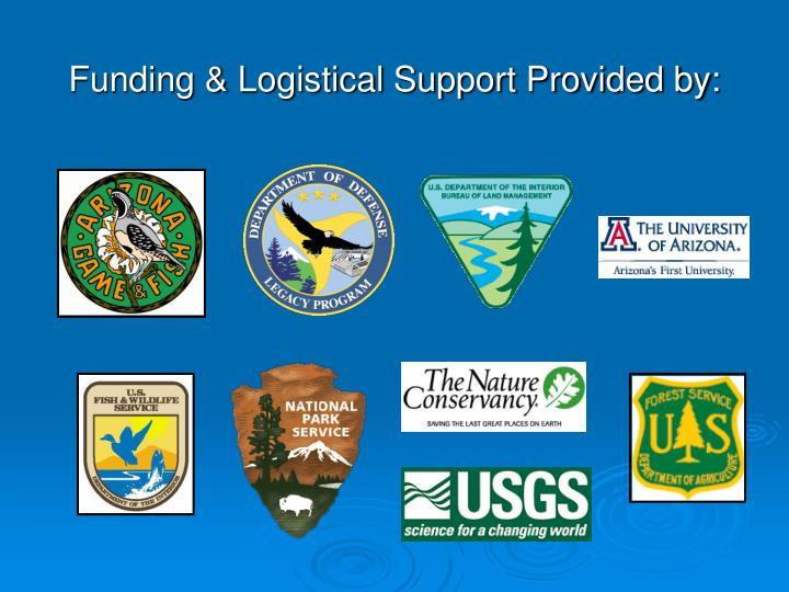 Funding & Logistical Support Provided by: